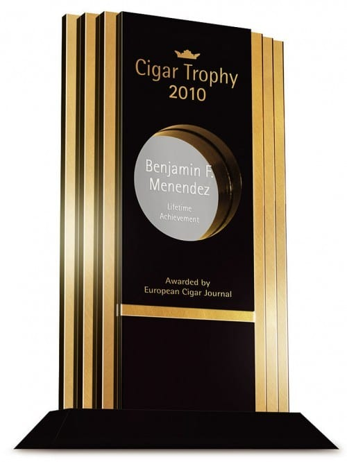 benjamin menendez cigar journal lifetime achievement award ecj trophy 2010