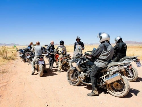 heinrich villiger africa cigar bike tour 2012 group entrepreneurs motorcyclists break