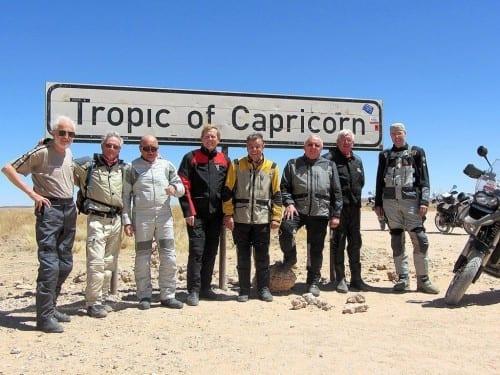heinrich villiger africa cigar bike tour 2012 group portrait entrepreneurs motorcyclists tropic of capricorn