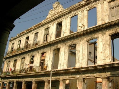 romeo y julieta factory remaining facade front street view