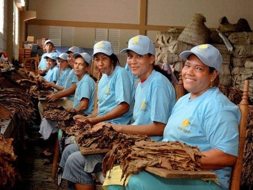 bienvenida ovalles factory workers feminine touch group portrait