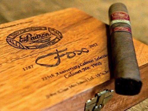 jj fox padron 225th anniversary cabinet selection cabinet no 1905 box single cigar