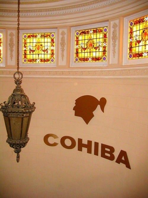 el laguito cohiba factory inside stairs company logo windows
