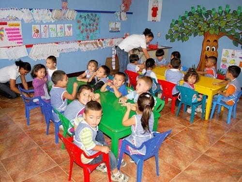 pre-school plasencia factory children of employees
