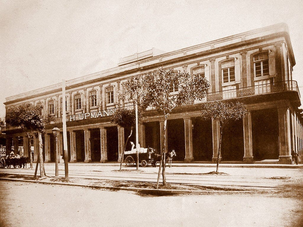 h upmann factory building la madama havana historical photography front view