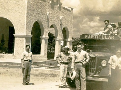 don sixto plasencia in front of his truck at el corojal pinar del rio cuba