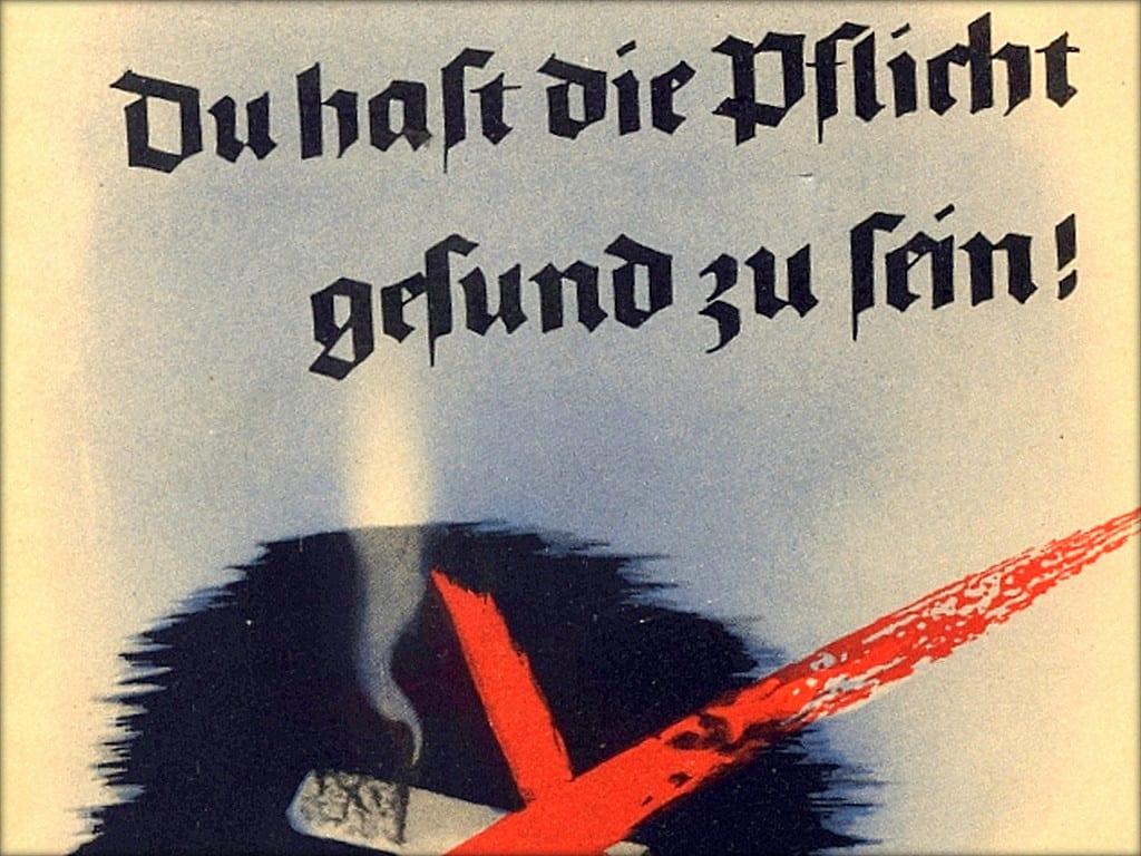 anti smoking laws propaganda poster duty to be healthy