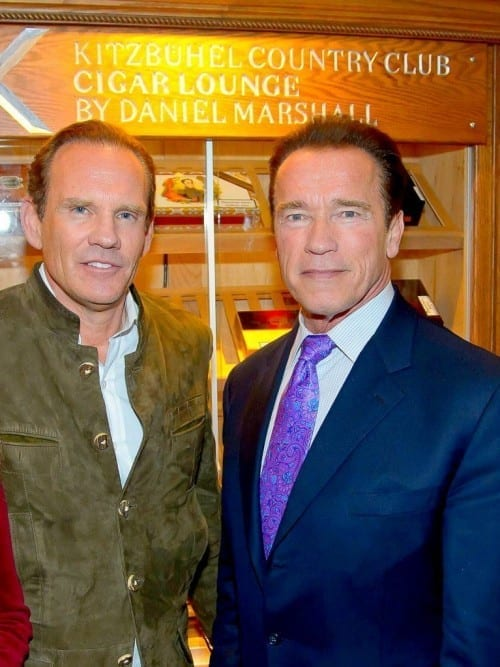 daniel marshall arnold schwarzenegger cigar lounge humidor opening kitzbuehel country club reith 2013