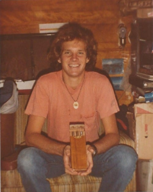 daniel marshall with papa joes cigar case 1982