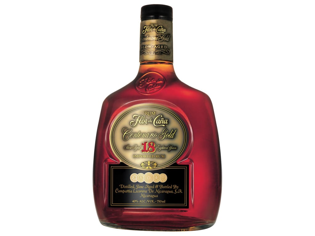 flor de cana centenario gold 18 years bottle smoky spirits