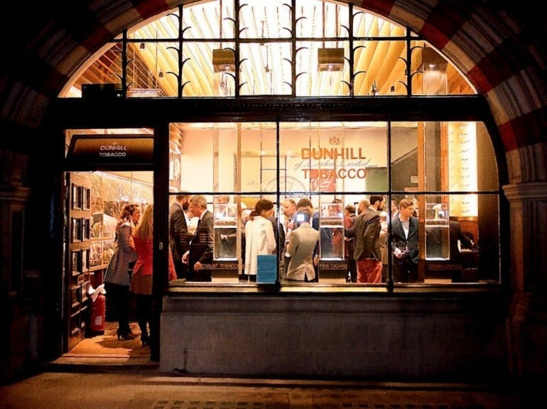 dunhill flagship store refreshed launch party outside front