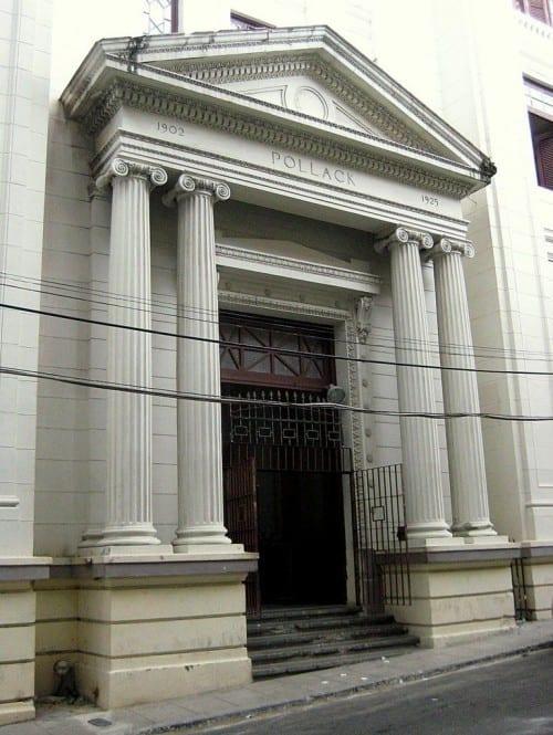 partagas factory entrance columns pollack