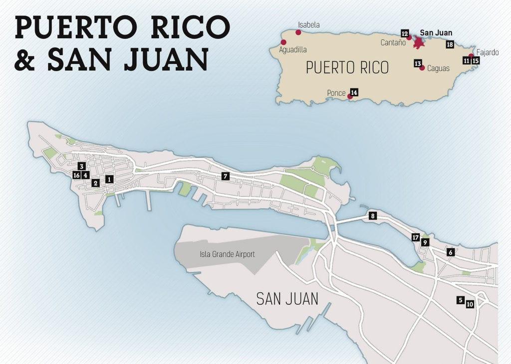 puerto rico san juan map