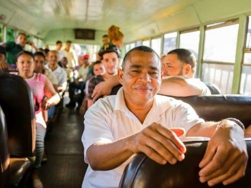 ramon emilio cruz inspector going home by bus davidoff villa gonzalez dominican republic