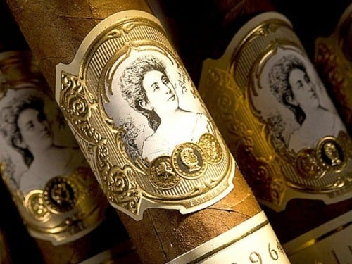 la palina cigar label goldie paley embossed band