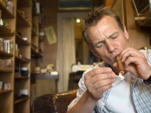stefan appel portrait otto hatje light up cigar