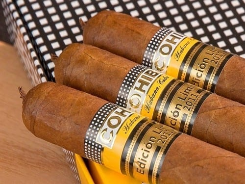 cohiba 1966 limited edition 3 cigars on box