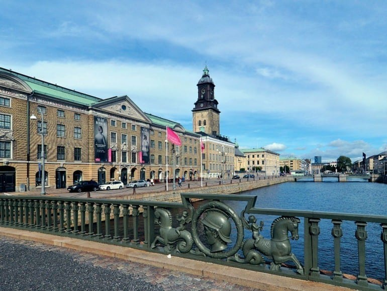 gothenburg goteborgs museum river bridge