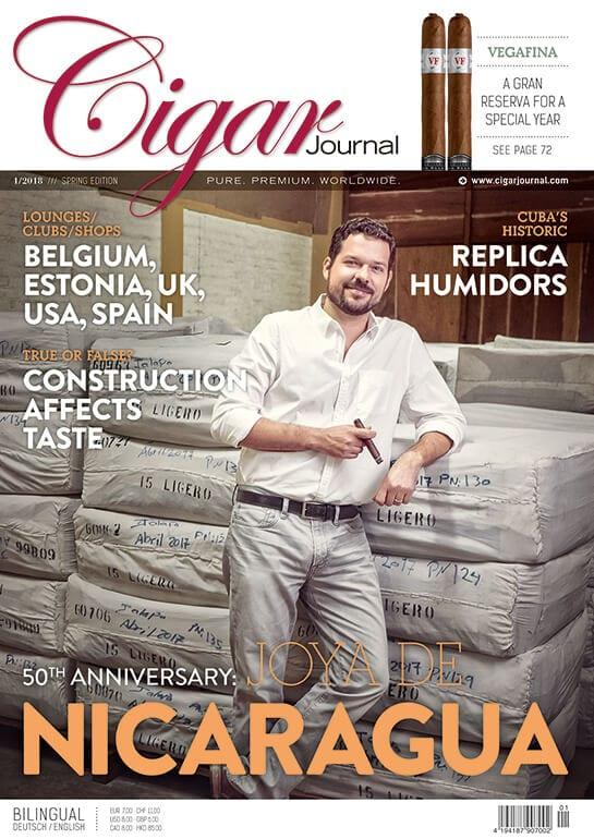 Cigar Journal Spring Edition 2018 Cover: Joya de Nicaragua