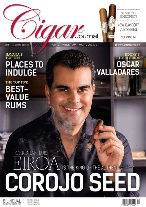 Cigar Journal Magazine Cover Spring Edition 2017 Christian Eiroa