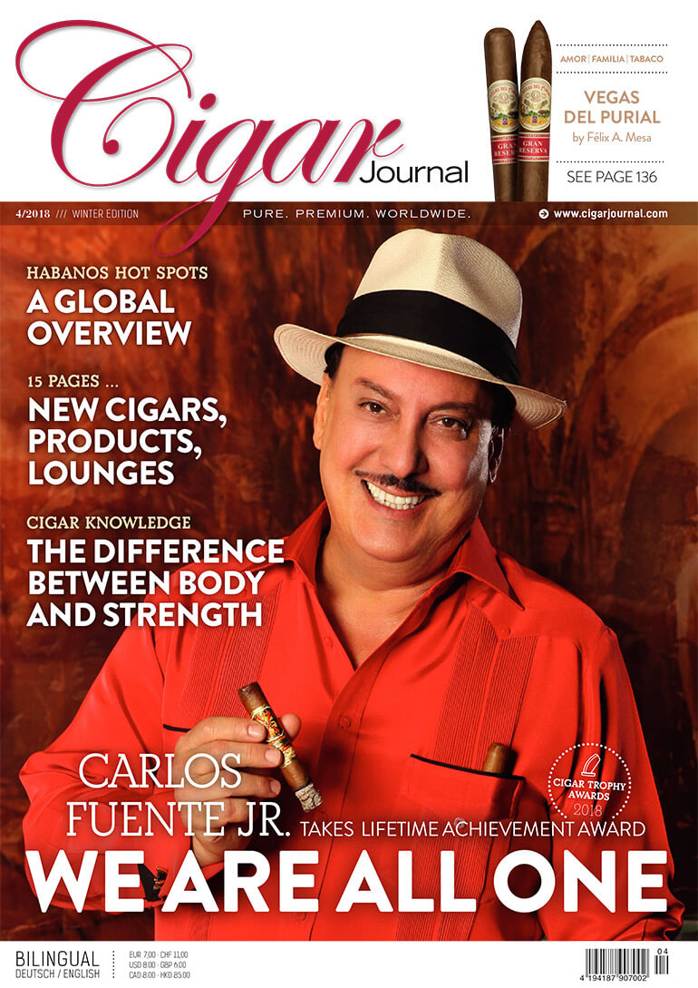 Cigar Journal Cover Winter Edition 2018 Carlito Fuente