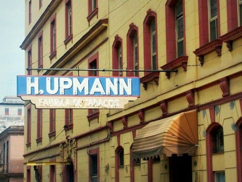 h upmann factory front view old factory sign