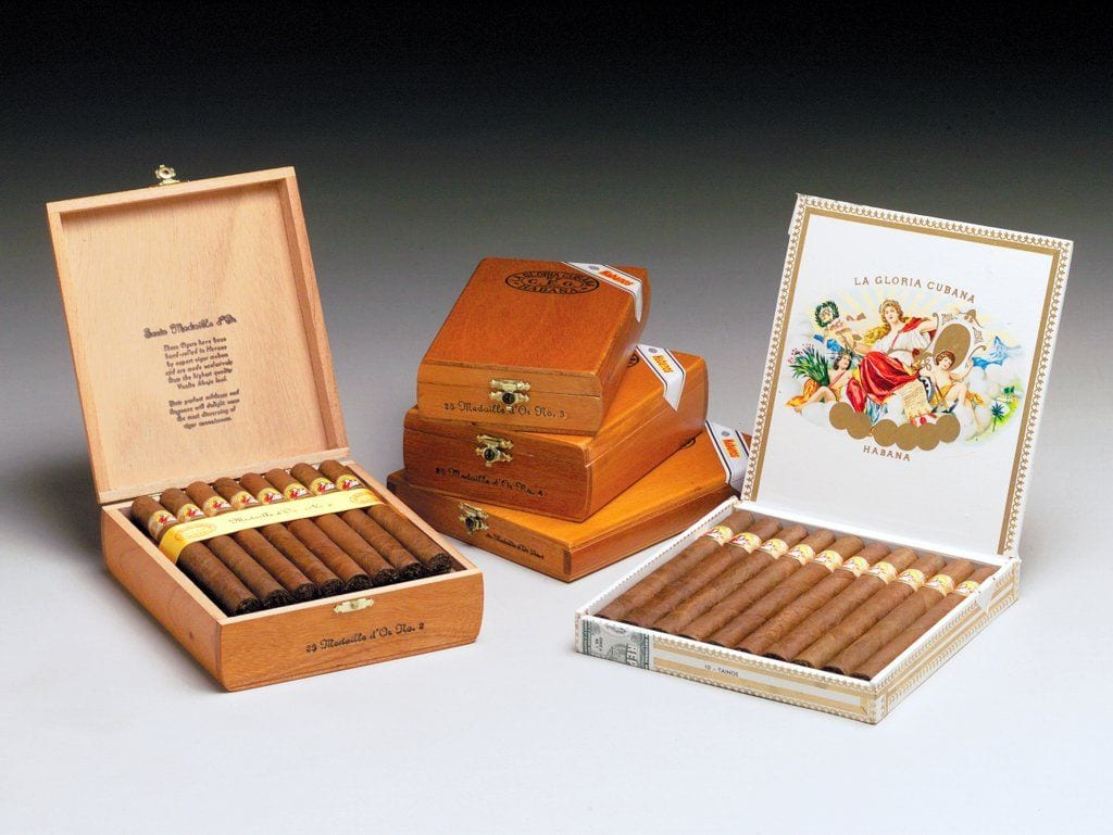 la gloria cubana panetelas cigar boxes open closed
