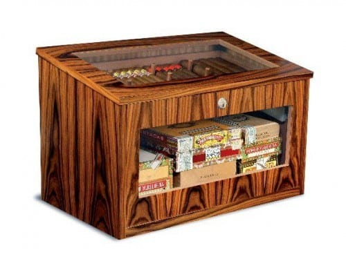 exclusive cabinet humidor hinged lid century-imperator integrated micro precision humidifier