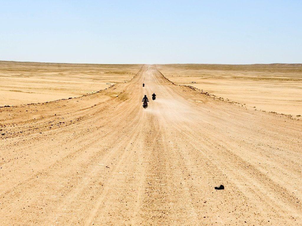 heinrich villiger africa cigar bike tour 2012 bikers long sandy road