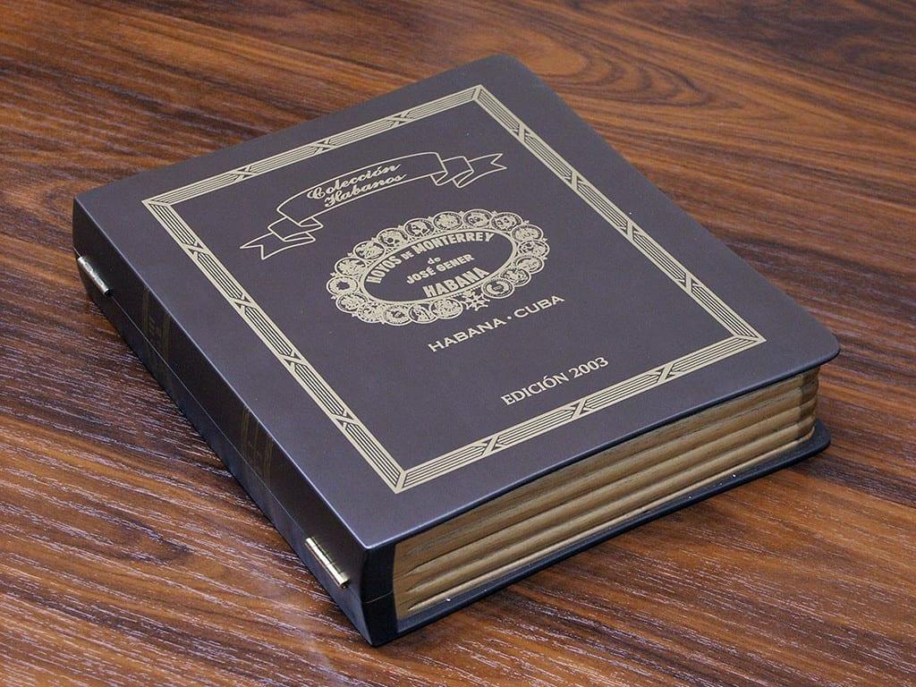 coleccion 2003 habanos hoyo de monterrey extravaganza book case