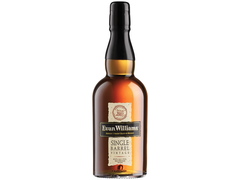 evan williams single barrel 2003 bottle
