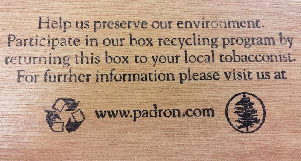 padron box recycling program print