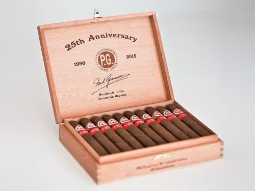 paul garmirian pg cigars 25th anniversary open cigar box