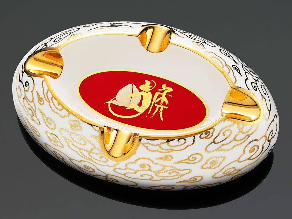 siglo accessory limited edition year of the monkey ashtray china bone ceramic white red
