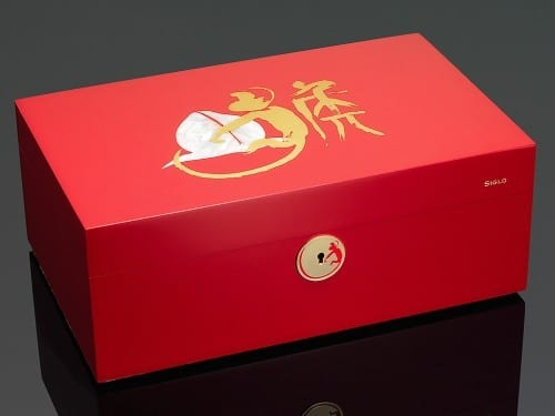 siglo accessory limited edition year of the monkey humidor red closed