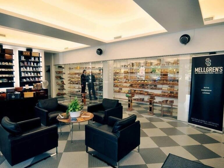 gothenburg mellgrens fine tobacco lounge inside