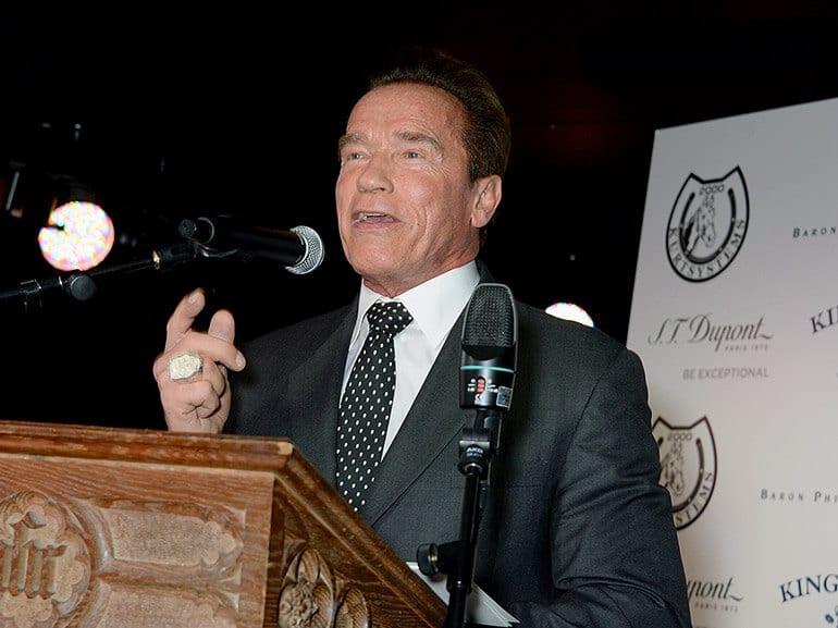 Arnold Schwarzenegger Cigar Smoker of the Year