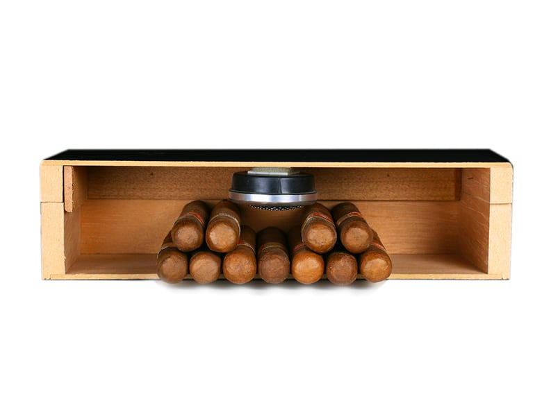Humidor: Humidification Unit in the Lid