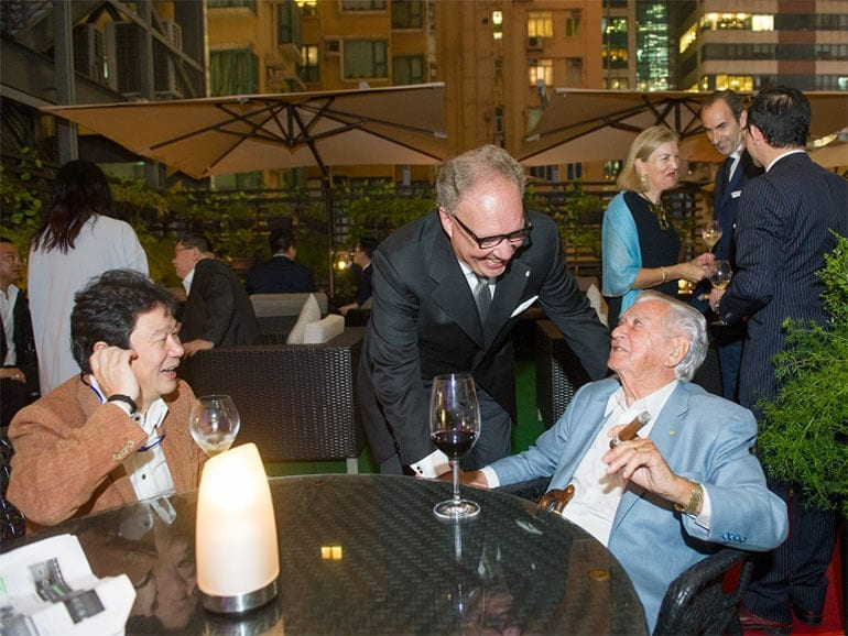 Davidoff CEO Hoejsgaard and Bob Hawke