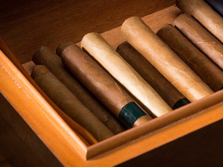 Humidor mit Zigarren