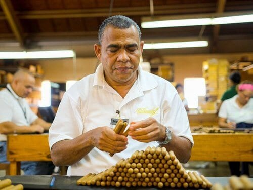 Quality control cigar factory