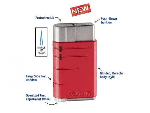 Xikar Linea Single Flame Lighter Red