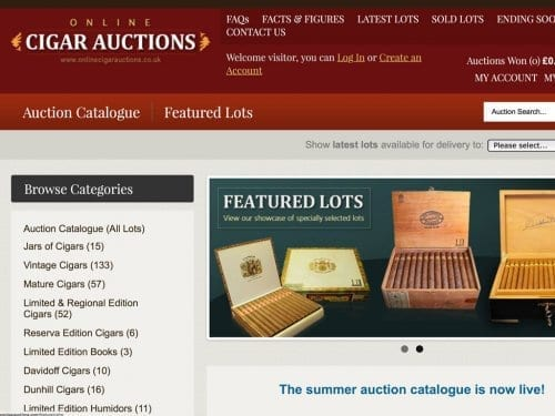C. Gars Vintage Cigar Auction