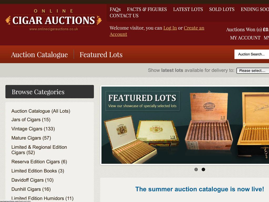 C. Gars Vintage Cigar Auction