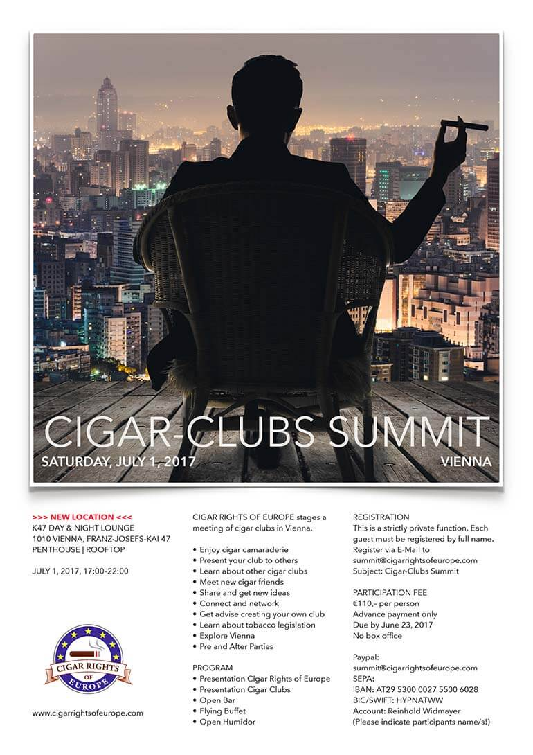 Cigar Clubs Summit Vienna 2017: Program