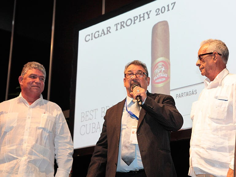 Cigar Trophy Awards Ceremony 2017: Best Brand Cuba - Partagás