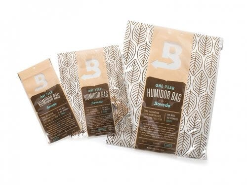 Boveda Humidor Bag Sizes