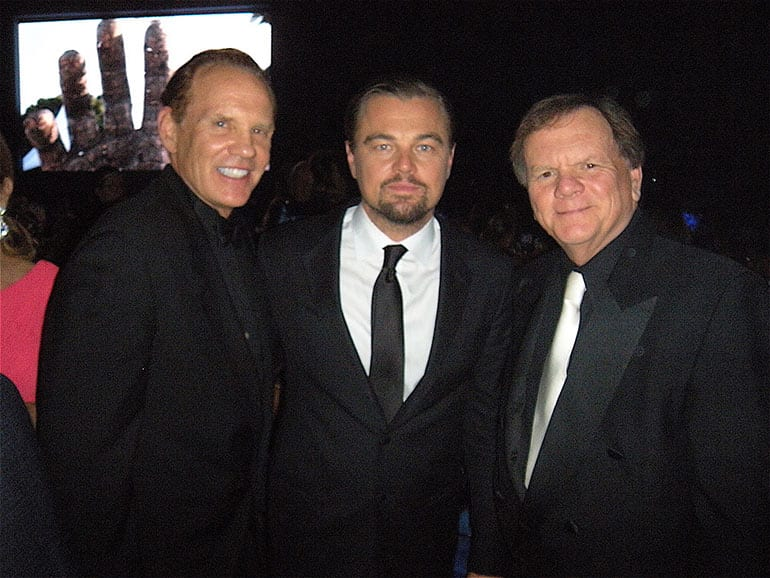 Daniel Marshall with Leonardo DiCaprio and Terry Tamminen