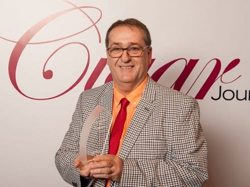 Albert Montserrat Cigar Rings with the Cigar Trophy 2017