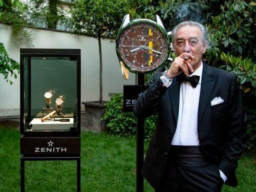 Hotel Bulgari Mailand Feier Zenith Uhr und Francesco Minetti